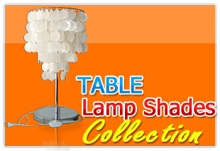 Jumbo Pacific Inc., Philippine Hand made Table Capiz lamp shade from the raw shell of capiz shells.
