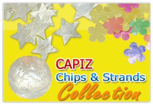Capiz collection of chip, strand, design, color